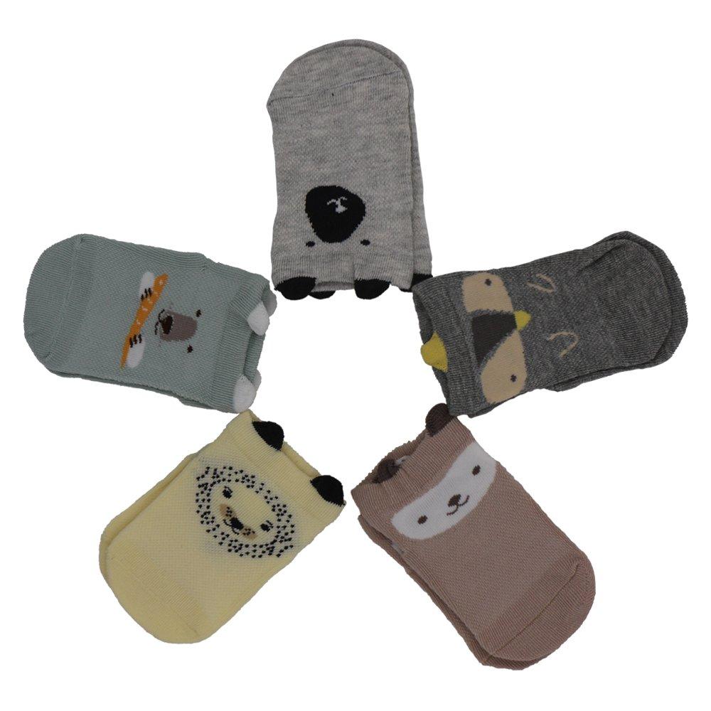 zapire 5ペアコットン動物3d詳細耳ショートアンクルカジュアルクルーソックスfor Baby ( 12 – 36ヶ月 Small  B0725B74ML