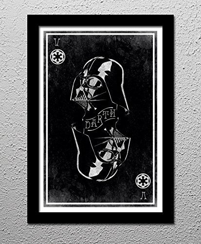 Sith Art (Darth Vader Star Wars The Sith of Spades - Original Minimalist Art Poster Print)