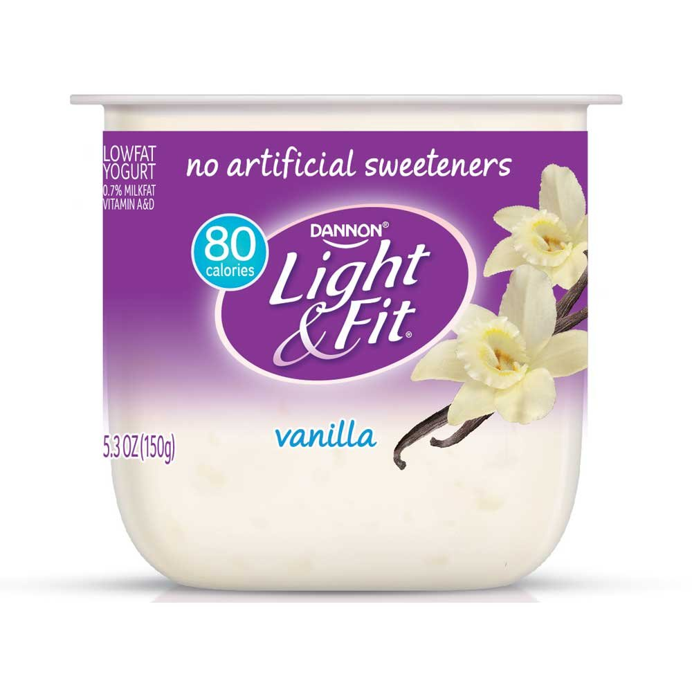 Light and Fit Vanilla Yogurt, 5.3 Ounce - 12 per case.