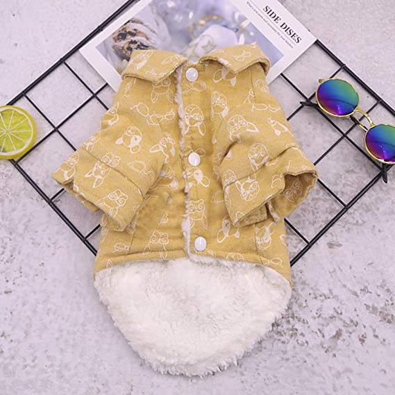 Amazon.com : BingYELH Pets Dog Winter Warm Vest for French Bulldog Frenchie Pug Corgi Puppy Clothes Shirt Cold Weather Fleece Coat : Pet Supplies