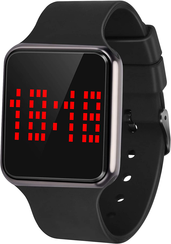 Reloj Digital Deportivo para Hombre, Pantalla táctil LED, Informal, electrónico, Deportivo, Unisex, con Correa de Silicona