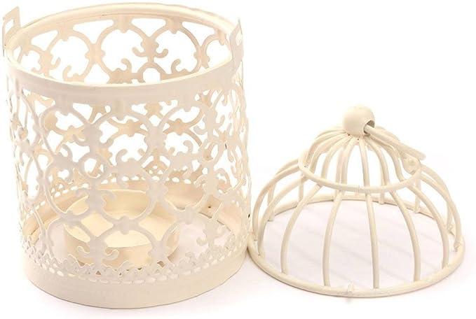 EN M/ÉTAL Craft D/écoration motif d/écoratif style europ/éen Creative Home Cage /à oiseaux Lubier Evide fer Art Bougeoir