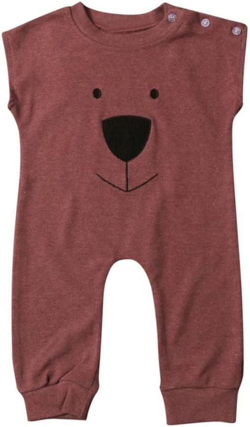 Franterd Baby Girl Boys Bear Jumpsuit Infant Animal Cotton Romper Toddler Clothes
