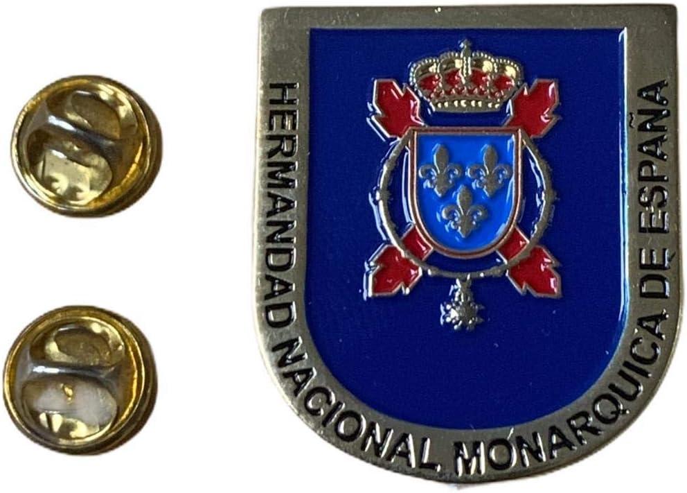 Pin de Solapa Hermandad Nacional Monarquica de España 35x30mm Recreación Histórica-Réplica Militar: Amazon.es: Hogar