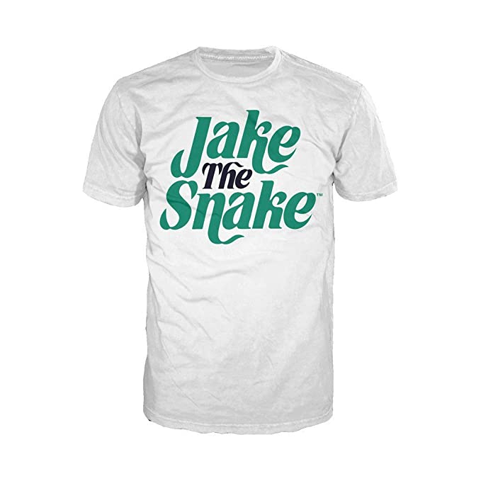 WWE Jake The Snake Logo Official MenS T-Shirt (White) (XX-
