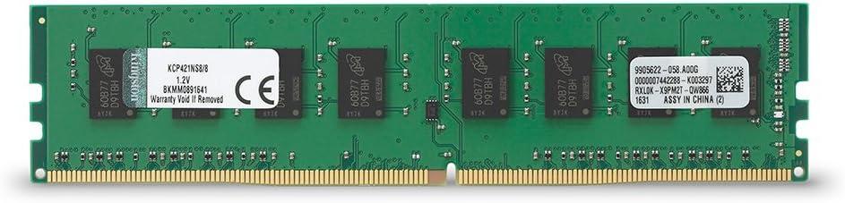 Kingston Technology 8GB DDR4 2133MHz DIMM Memory for Dell, Fujitsu Desktop KCP421NS8/8