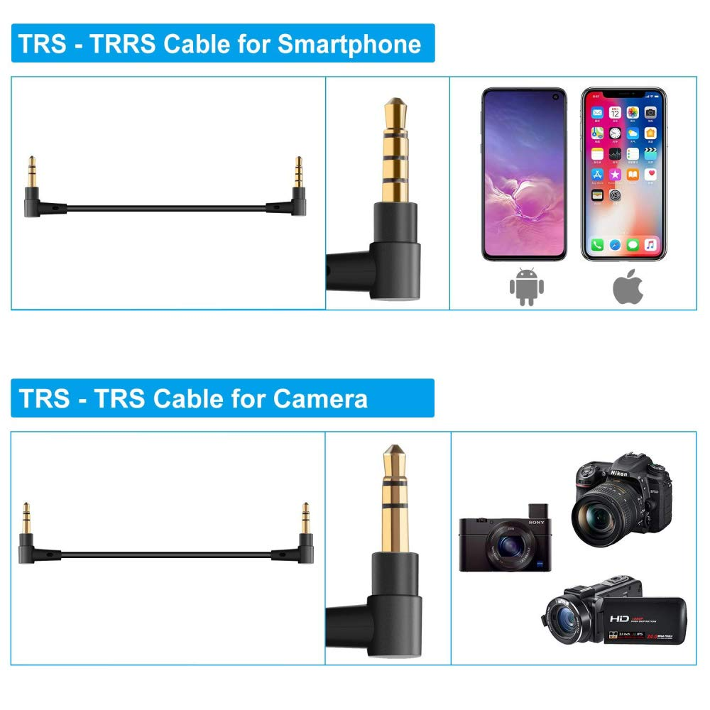SOKANI TINY UHF Wireless Lavalier Microphone System,Wireless Microphone Lapel Apply to DSLR Cameras iPhone Android Smartphone Camcorder Recording YouTube Vlog Gimbal Interview