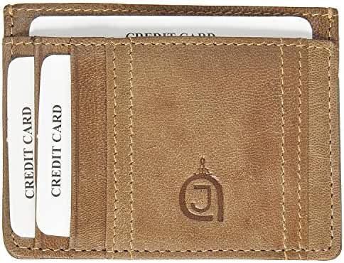 AzraJamil Premium Finished Men's Leather Card and Note Holder