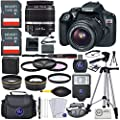 Canon EOS Rebel T6 DSLR Camera w/ EF-S 18-55mm Lens + Premium Accessory Bundle from Canon