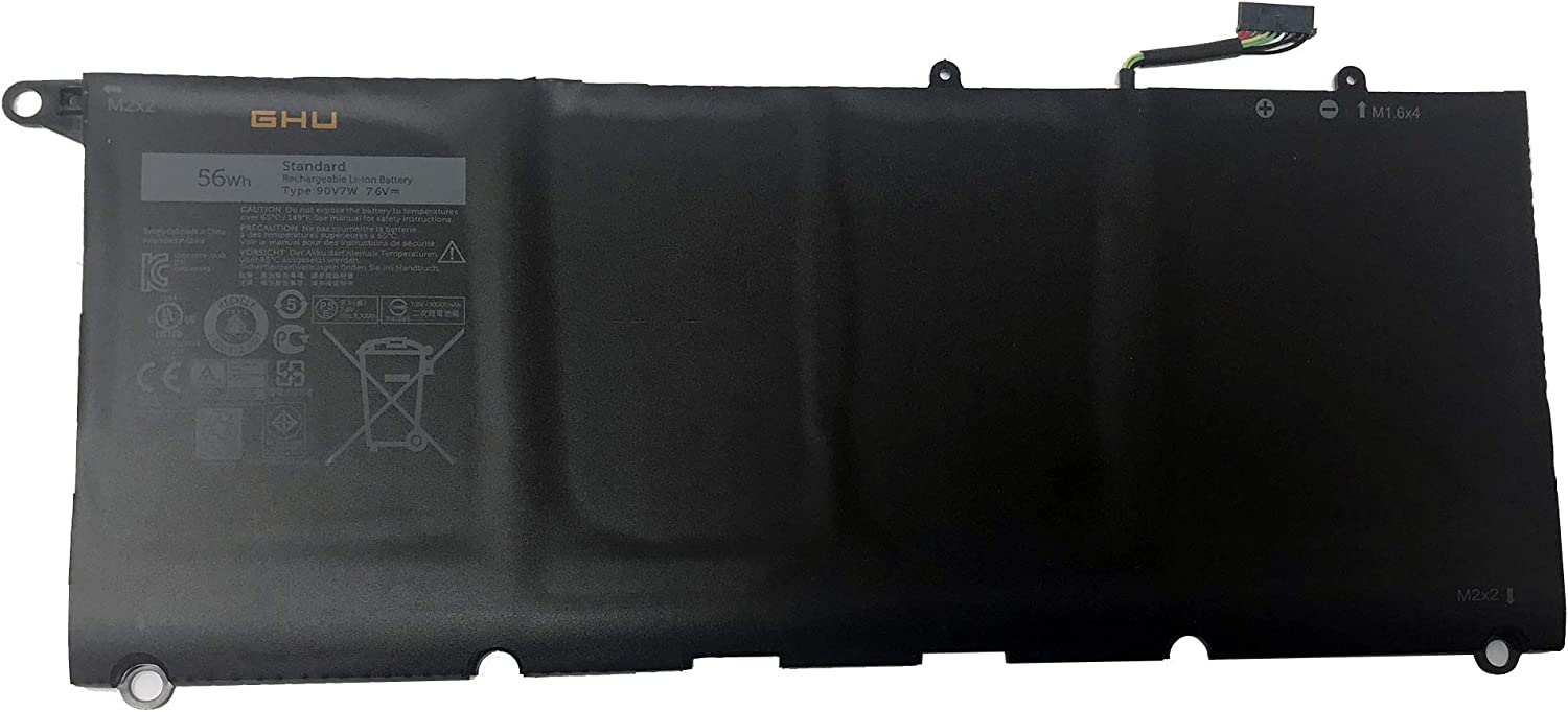 New GHU 56Wh 90V7W 5K9CP Battery Compatible with Dell XPS 13 13D 9343 13-9343, XPS 13 9350 13-9350 XPS13-9350 13D-9343 DIN02 0DRRP 0N7T6 JHXPY DIN02 RWT1R,Li-ion 7.6V 56Wh