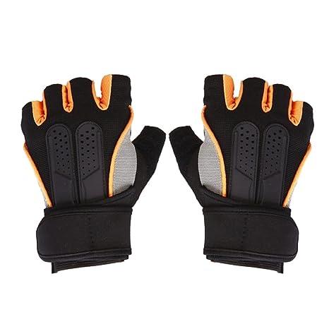 Guantes para motorista Trendyest Mancuerna con barra de pesas, entrenamiento con pesas, medio dedo