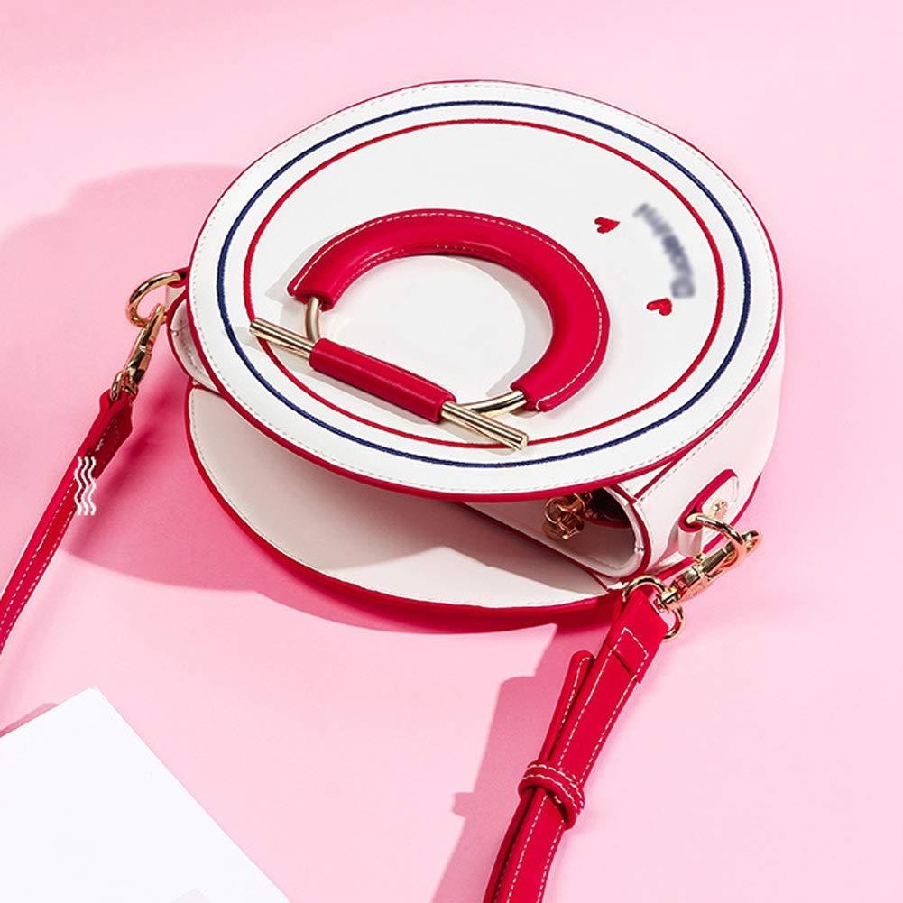 Color : Blue, Size : 21cm8cm16cm HWX New Simple Shoulder Bag Korean Version of The Wild Messenger Bag Small Round Bag