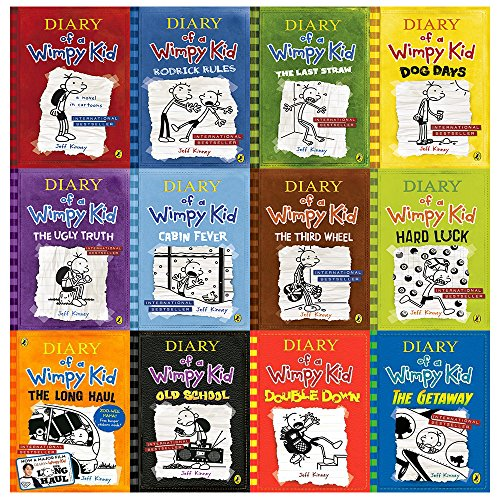 Diary Of A Wimpy Kid Collection 12 Books Set  Diary Of A Wimpy Kid Rodrick Rules The Last Straw Dog Days The Ugly Truth Cabin Fever The Third Wheel Hard Luck The Long Haul The Getaway  Hardcover