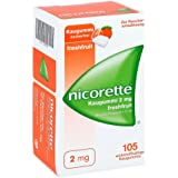 Nicorette 2 mg Fresh Fruit Chewing Gum 105 Pieces