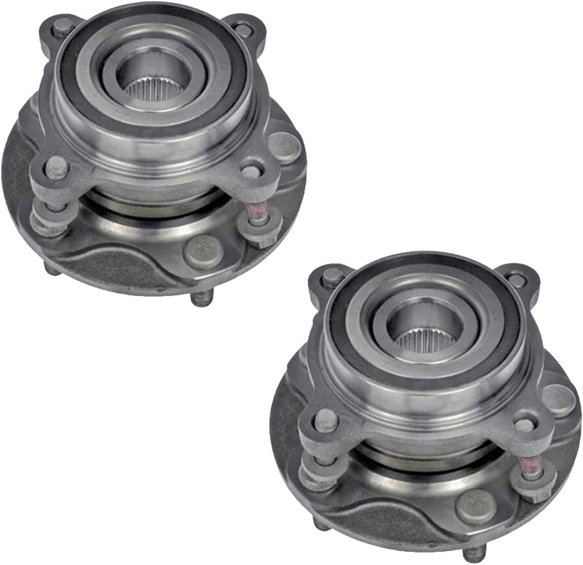 4WD Models ONLY 2008-2018 Toyota Sequoia 2007-2018 Toyota Tundra QJZ 1-Pack Front Driver or Passenger Side Wheel Hub Bearing Assembly for 950-002
