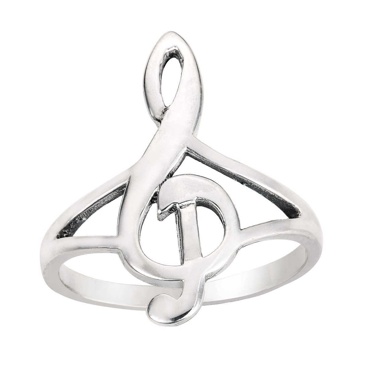 Sizes 4-15 Princess Kylie Sterling Silver Musical Note Ring