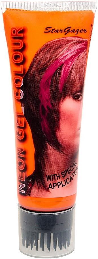 Gel de peinado con coloración temporal UV de Stargazer 50ml (Naranja)