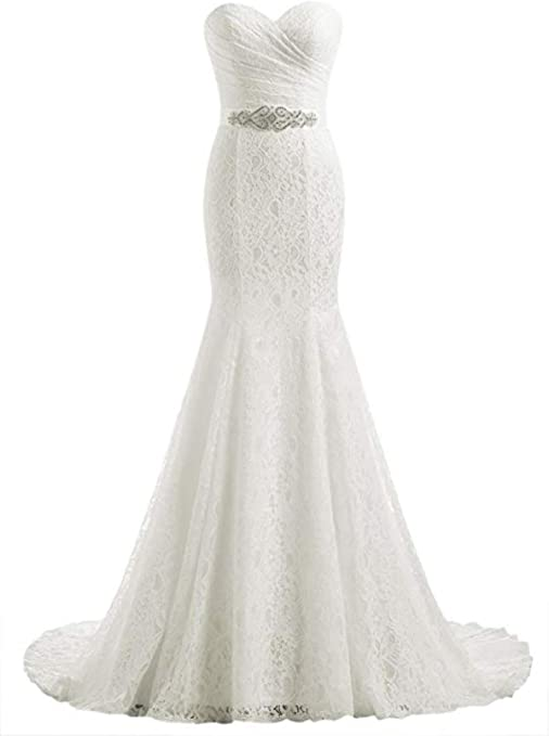 Women's Lace Mermaid Bridal Wedding Dress