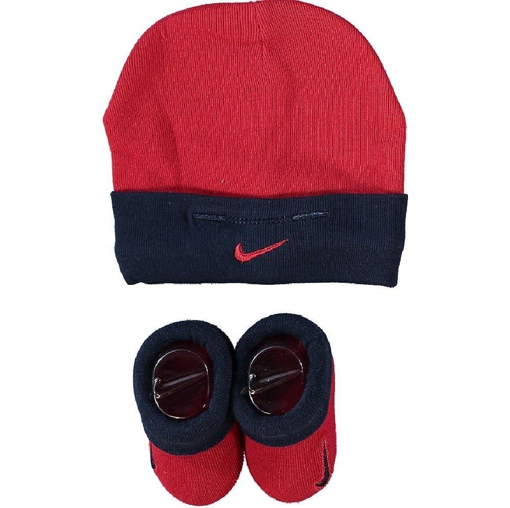 B/éb/é Nike gar/çon 0 /à 24 Mois Rouge Bleu 0-6 Mois Chapeau