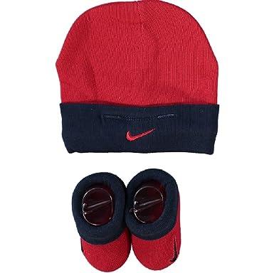 Nike , Chapeau , Bébé (garçon) 0 à 24 Mois Rouge Bleu 0,6 Mois