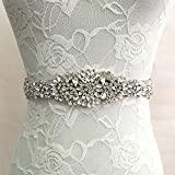 Product review for Rhinestone Crystal Diamond Sash Belt for Bridal Bridesmaid Dress Formal Wedding Dress Wedding Party Prom Evening (Off white)