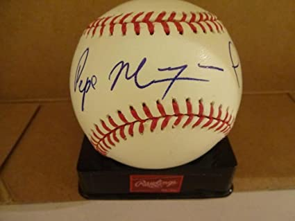 265dc4fc5 Pepe Mangual Rare Expos mets Signed Autographed M.l. Baseball W coa - Autographed  Baseballs