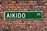 Aikido Aikido Sign Aikido Fan Martial Arts Participant Martial Arts Lover Home Decoration Sign Metal Alunimum Wall Plaque 45 x 10cm