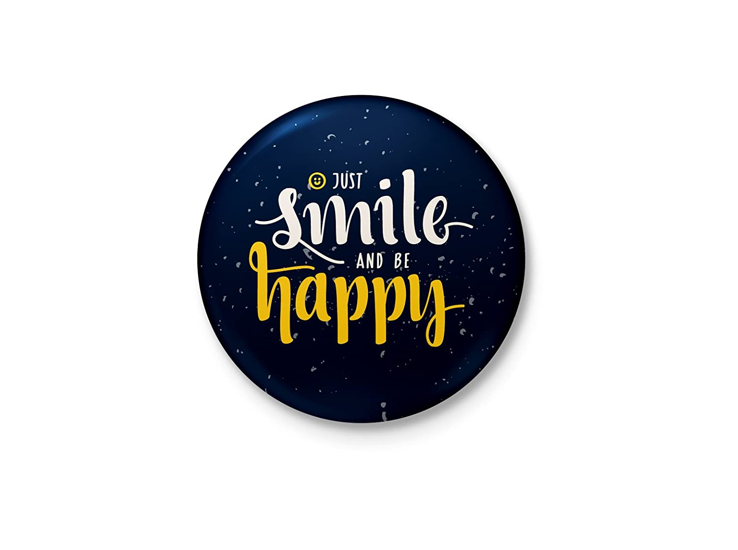 6dbd2585a8765 Buy Alter Ego Just Smile and Be Happy Badge with Safety-Pin Back Online at  Low Prices in India - Amazon.in