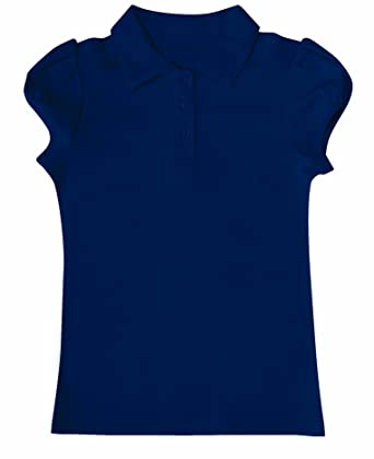b4543b16 Amazon.com: CLASSROOM Big Girls' Interlock Yoke-Back Polo Shirt ...