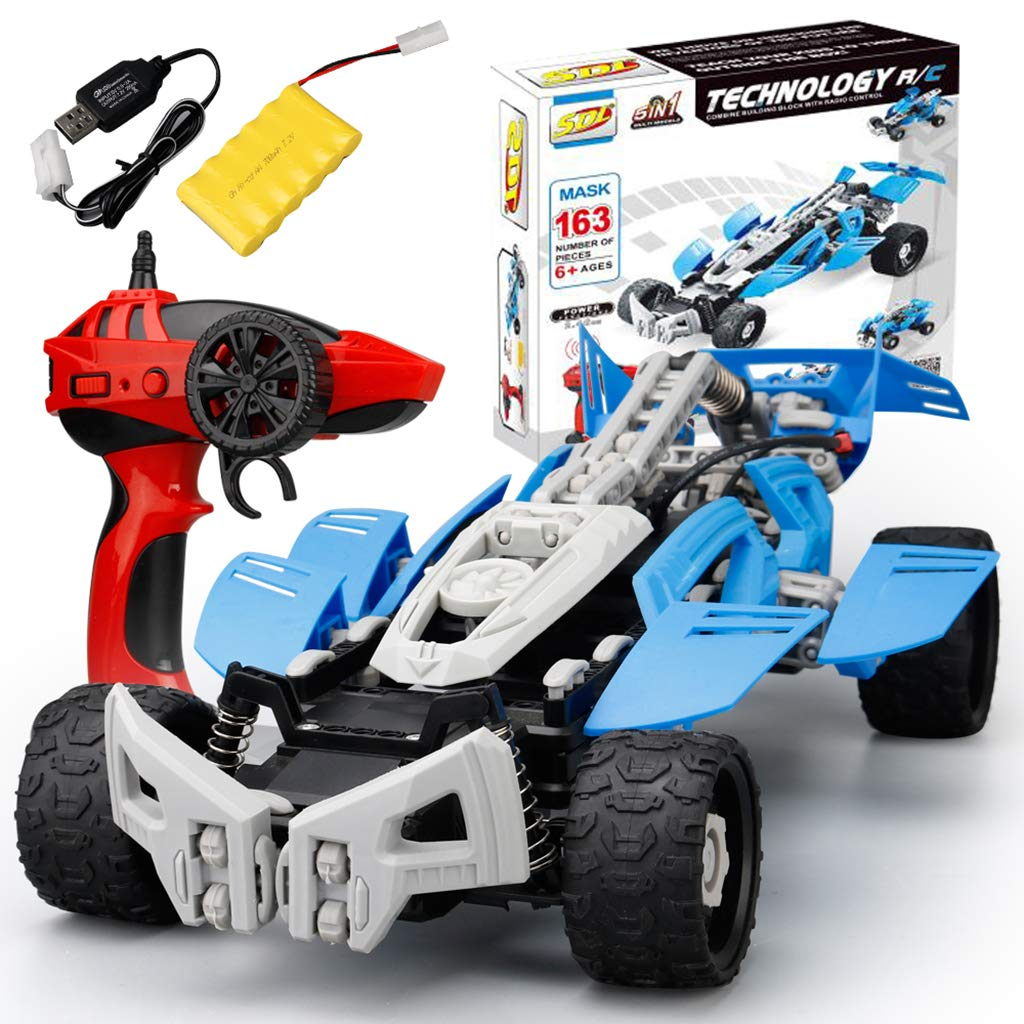 GREEN&RARE Remote car RC Car Toy SDL 2017A20 2.4GHZ 1 16 USB Charging Building Block DIY Remote Control Toys Crawler Model Best Gift to your kids