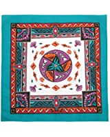 CTM® Womens Cotton Aztec Turquoise Bandanas