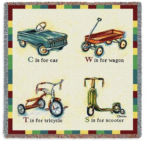 Pure Country Inc. Car Wagon Tricycle Scooter Small Blanket Tapestry Throw
