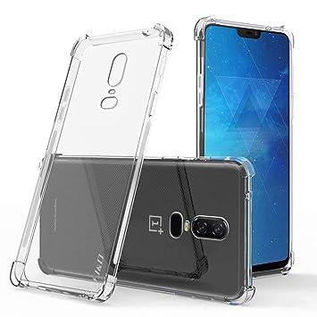 JJWYD Funda para OnePlus 6T, Ultra Fina Silicona Transparente TPU Carcasa Protector Airbag Anti-Choque Anti-arañazos Case Cover para OnePlus 6T ...