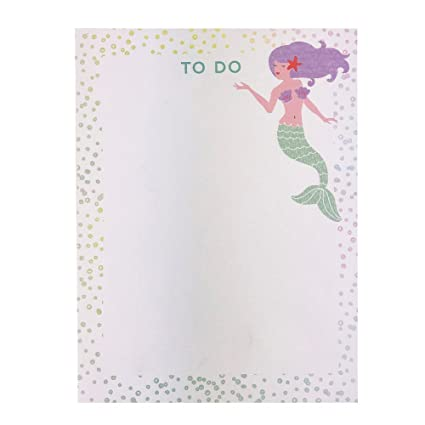 amazon com mermaid themed to do list note pad 70 sheets office