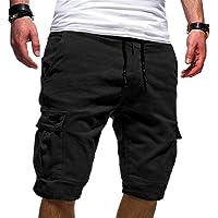 XINHEO Mens Baggy Standard-fit Cargo Shorts Simple Jogger Sport Pants