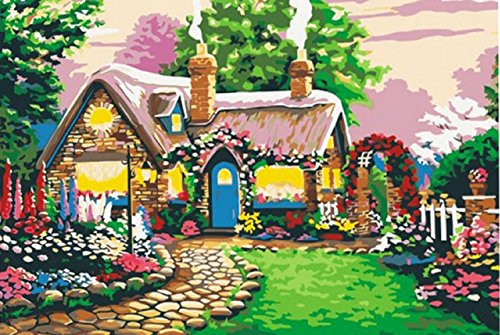 (Greek Art Paintworks Paint Color By Number,Fairy Tale Cottage styleA,16-Inch by 20-Inch )