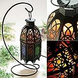 Natural Himalayan Salt Lamp with Salt Chunks in Cylinder Design Metal Basket and Lamp Holder Bulb Switch-Vintage design (black)