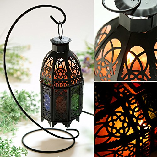 Natural Himalayan Salt Lamp with Salt Chunks in Cylinder Design Metal Basket and Lamp Holder Bulb Switch-Vintage design (black) by Sailnovo