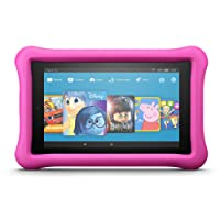 """Fire HD 8 Kids Edition Tablet, 8"""" Display, 32 GB, Pink Kid-Proof Case (Previous Generation - 7th)"""