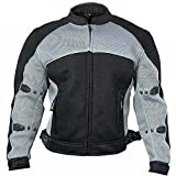 Xelement CF511 Mens Black Armored Mesh Sports Jacket - Small