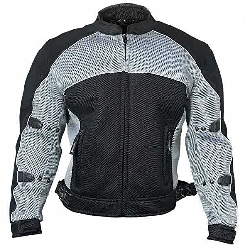 Xelement CF511 Mens Black Armored Mesh Sports Jacket - Small by Xelement
