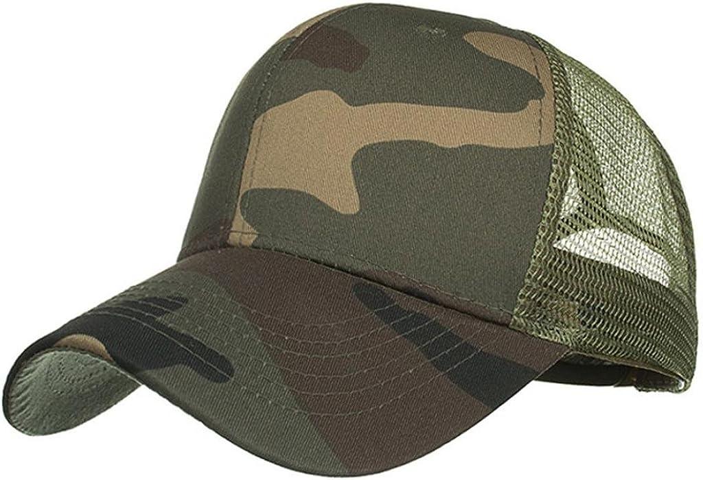 BCDshop Hat Women Men Retro Outdoor Camo Summer Cap Mesh Baseball Caps Hats  (Army Green 5d95c91ba0bd