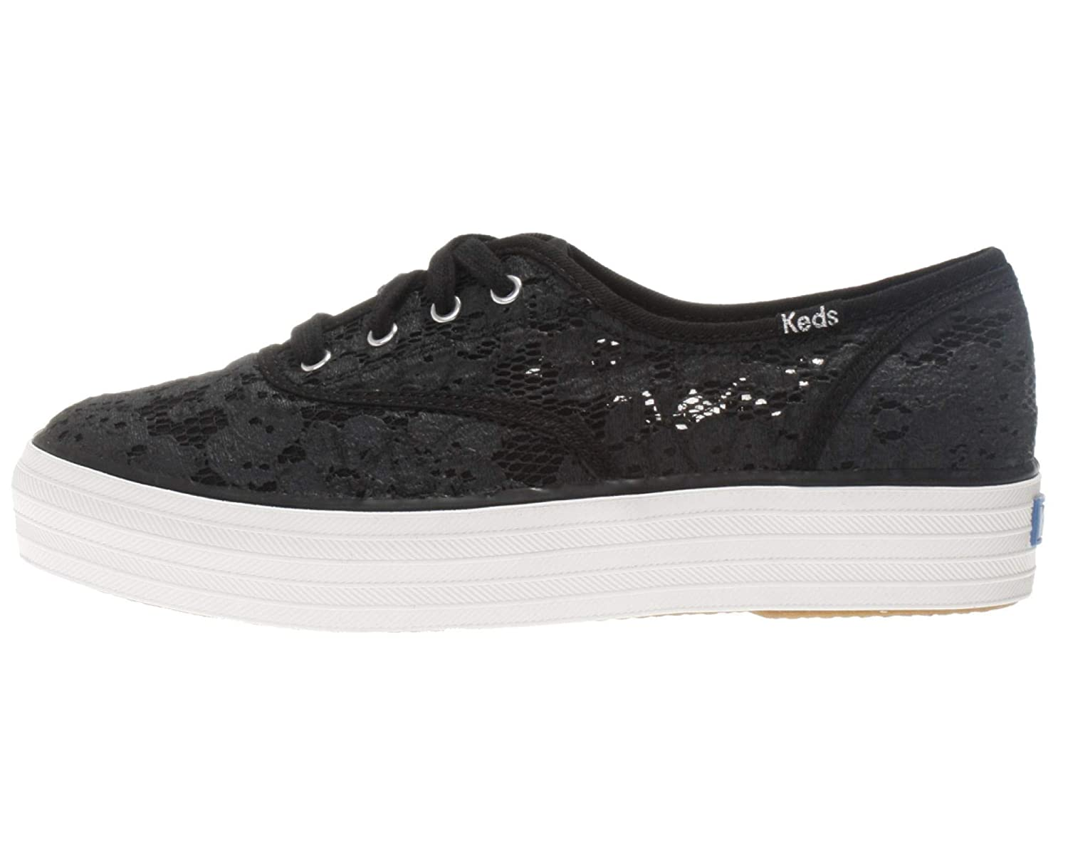 Black Keds Womens Triple Painted Crochet Sneakers