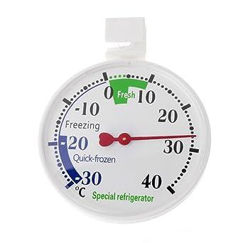 Zzqyis termómetro para interiores, refrigerador, congelador ...