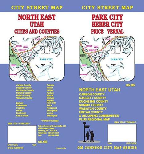 Park City / Heber City / Price / Vernal / North Eastern Utah, UT Street Map