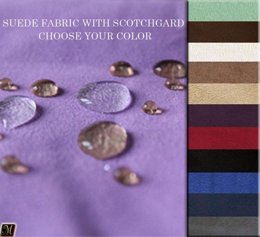 Mybecca Chocolate Suede Microsuede Fabric with SCOTCHGARDÖ/SCOTCHGARD Protector Upholstery Drapery Fabric (1 yard)