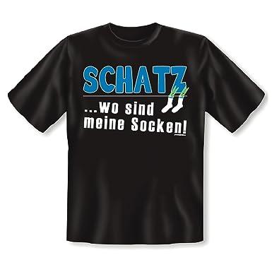 fe6de9c583da9c Cooles T-Shirt für Humorvolle : Schatz, wo sind meine Socken?, T ...