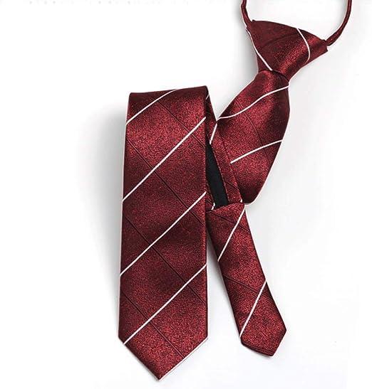 YXN Color sólido para Hombre Corbata/Cremallera Versión Estrecha ...