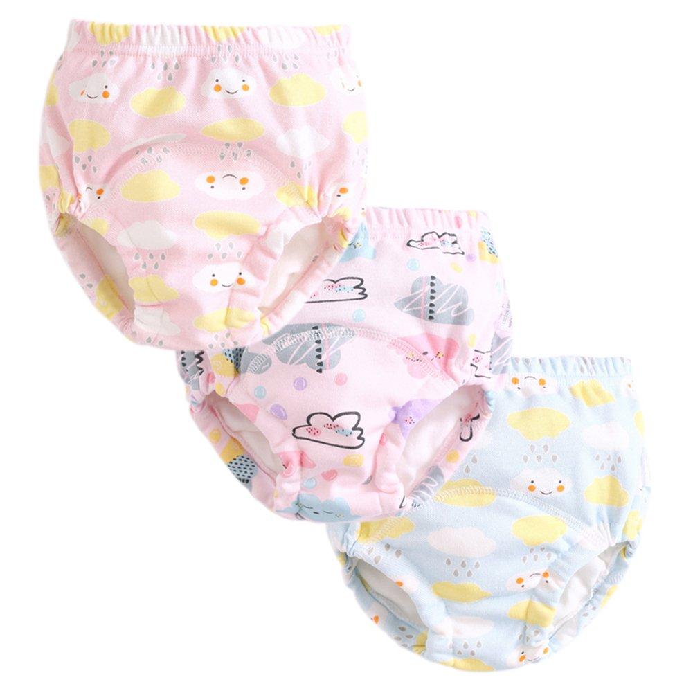 Enfants Chéris 3Pcs Graphic Potty Training Underwear Baby Girls Boys Reusable Nappies Cloth Diaper Kids Toilet Training Pants
