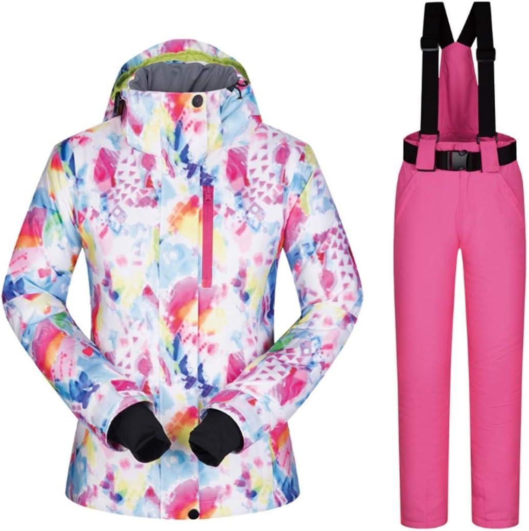 Wazenku 女性のスキージャケットハイ防風防水技術スノージャケット (色 : 03, サイズ : L)  Large
